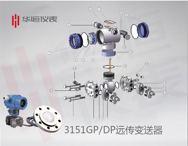 3151智能型GP/DP变送器_单法兰液位变送器_法兰远传式压力/差压液位变送器